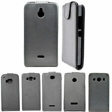 Black Flip Leather Mobile Phone Accessories Case Cover For Samsung Sony LG Nokia