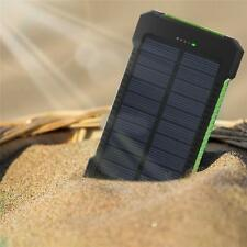 20000/30000mAh Dual USB Power Bank Solar Waterproof External Battery Charger