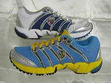 Ladies K-SWISS blue/yellow & White/blue Lace up trainers K-ONA