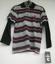 Ecko Unltd Boys Red Black and Grey Polo Shirt
