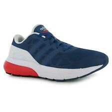 Adidas CloudFoam Flow Running Shoes Mens Ash Blue/Red/White Trainers Sneakers