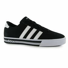 Adidas Daily Team Nubuck Trainers Mens Black/White Casual Sneakers Shoes