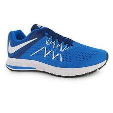 Nike Zoom Winflo 3 Running Shoes Mens Blue/White Fitness Trainers Sneakers