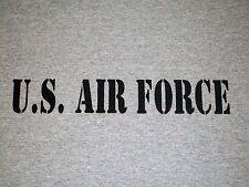 U.S. AIR FORCE Men's Gray T-Shirt ------ United States - Military Soldier Pilots