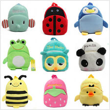 Toddler Baby Kids Gift Cute Cartoon Animal School Bag Travel Sacks Zip Backpack