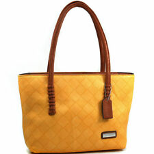 New Womens Handbags Faux Woven Leather Tote Bag Shoulder Bags Purse Big Sale