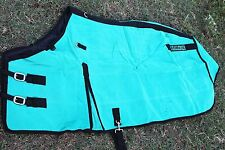 Canvas Duck Turnout Water Resistant Horse Winter Blanket Wool Felt Teal 2520
