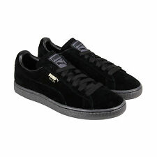 Puma Suede Classic + Mono Iced Mens Black Suede Lace Up Sneakers Shoes