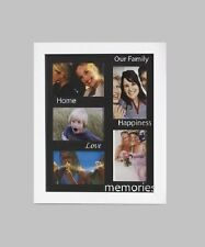 Large White 3D Box Family Memories Love Photo Frame with 5 Picture Slots