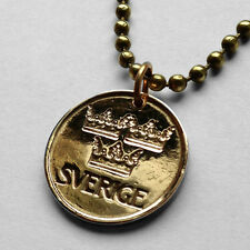 Sweden 5 ore coin pendant Swedish necklace 3 crowns Viking Norse Nordic n000418