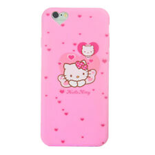 Hello Kitty Case Apple iPhone 6 6S Plus Cover Silicone TPU Gel Bumper Pink
