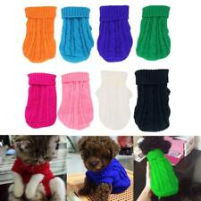Pet Dog Puppy Cat Warm Sweater Clothes Knit Coat Winter Apparel 8 Colors 5 Sizes