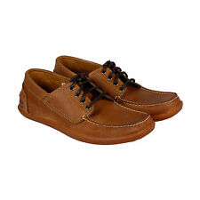 Timberland Odelay 4 Eye Camp Mens Brown Leather Casual Dress Oxfords Shoes
