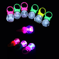 10x LED Light Up Flashing Finger Rings Glow Kids Children Party Favors Glow Toys