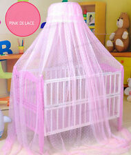 Baby Infant Toddler Canopy Crib Cradle Bed Mosquito Net Tent 3 Color