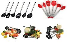 6pcs Stainless Steel Cooking Utensils Set with Silicone Tips spoon spatula Tools
