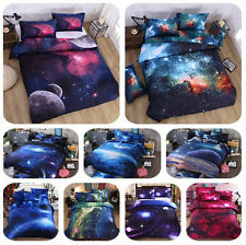3D Galaxy Bed Pillowcase Quilt Cover Set Duvet Cover Set Single Queen Size