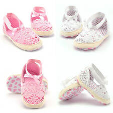 Baby Infant Toddler Girls Flat Hollow Out Soft Sole Sandal Shoes Prewalker Shoes