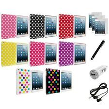 For iPad Mini 1 2 w/ Retina Display TPU Polka Dot Case Cover+6X Accessory Bundle