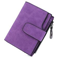 Fashion Solid Color Letter Snap Fastener Zipper Short Clutch Wallet for Lady ACA