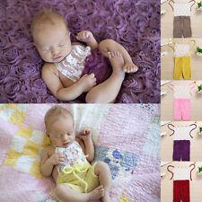Newborn Infant Baby Girls Sleeveless Romper Jumpsuit Outfits Costume Clothes US