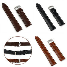 18mm/20mm/22mm/24mm Leather Strap Steel Buckle Men Sport Wrist Watch Band Belt