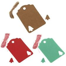 100pcs Kraft Tags Present Gift Labels with Christmas Tree Hang Tags Handmade