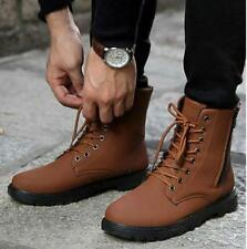 Fashion mens casual high-top lace up short army ankle boots winter warm shoes