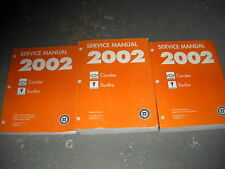 2002 Chevy Cavalier Pontiac Sunfire Shop Repair Service Workshop Manual Set GM