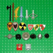 Lego Castle Minifigure Weapons and Accessories Lot of 20 with Red Bear Armor