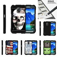 For Samsung Galaxy S5 Active G870 Case Hard Snap On 2 Piece Slim Shell USA Skull