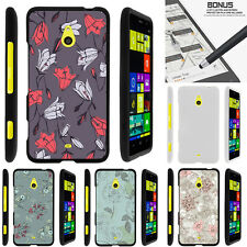 For Nokia Lumia 1320 Case Hard Snap On 2 Piece Slim Shell Elegant Flowers