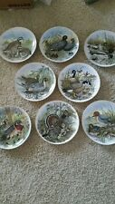 Game Birds of the South lot of 8 collector plates all same numbered 1982