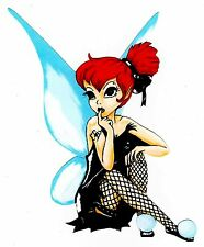 """6-10""""  DISNEY  TINKERBELL EMO GOTH WALL SAFE STICKER CHARACTER BORDER CUT OUT"""
