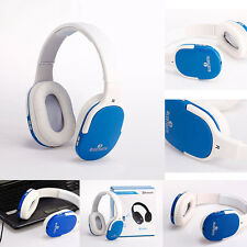 NEW For PC Phone Headset Stereo Audio Wireless Bluetooth Microphone Headphones