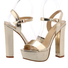 Women Sexy Ankle Straps Sandals Platform Peep Toe High Heeled Ladies Party Shoes