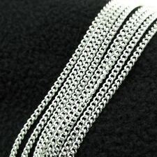 """Wholesale Lateral chains Silver Plated 1 5 10pcs 2mm 16-24"""" necklace"""