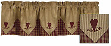 Sturbridge Heart Embroidered Point Valance by Park Designs, 72x15, Lined, Choice