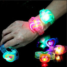 2pcs New Adjustable Supplies Flash Light Led Wrist Watch Bracelet Kids Toy Gift