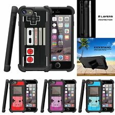 "For Apple iPhone 7 (4.7"") Grip Bumper Kickstand Case Game Controller"