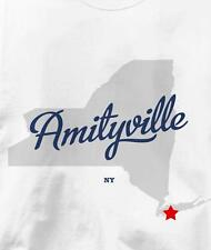 Amityville, New York NY MAP Souvenir T Shirt All Sizes & Colors