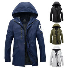 Stylish Men Winter Hooded Jacket Slim Outerwear Coat Warm Trench Parka Plus Size