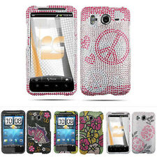 Colorful Bling Hard Snap On Cover Case for HTC Inspire 4G Desire HD ATT w/Screen