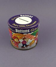 Cadbury's Buttons - Vintage Tin Money Box