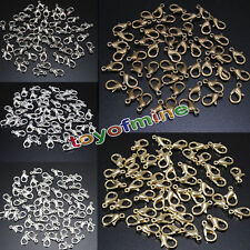 50Pcs Lobster Claw Clasps Hooks Finding DIY 12mm
