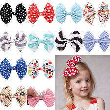 1x Cute Bow Butterfly Hair Clip Polka Dot Head Hair Acessories For Girls New EF