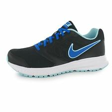 Nike Downshifter 6 Running Shoes Womens Black/Blue Trainers Sneakers Fitness