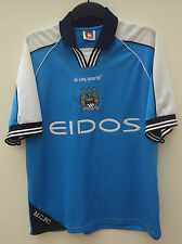 MANCHESTER CITY OFFICIAL HOME  FOOTBALL SHIRT BY LE COQ SPORTIF SIZE M