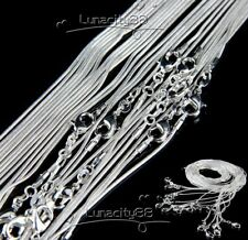 "Lot 925 Silver Plated 1.2mm Snake Chain Necklace 16"" 18Inch 20Inch 22Inch 24Inch"