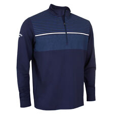 Callaway Golf 2017 Mens 1/4 Zip Chest Striped Opti-Shield Thermal Tech Pullover
